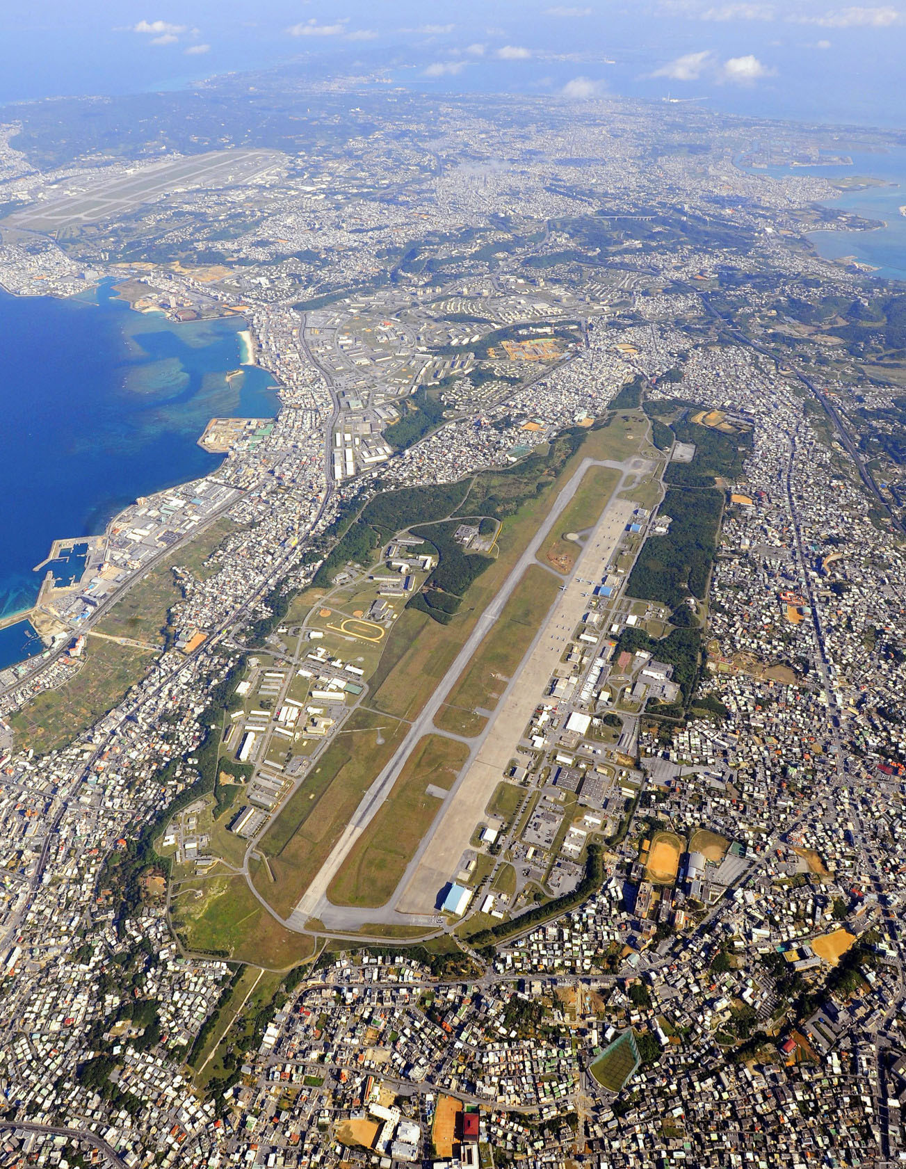 Prime target:  The U.S. forces Futenma air base in Okinawa. | KYODO