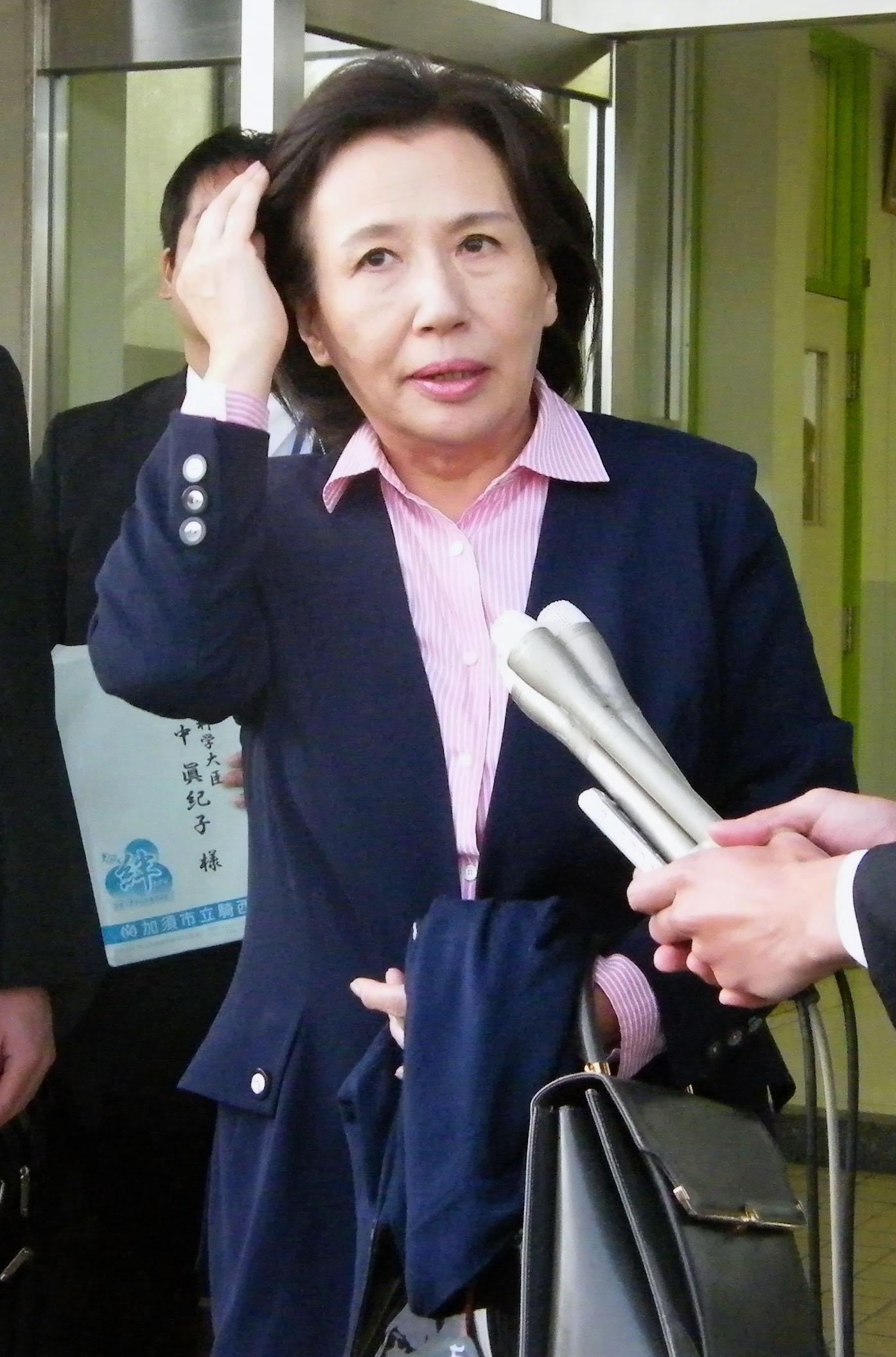 Hard lesson: Minister of Education, Culture, Sports, Science and Technology Makiko Tanaka found herself on the bad side of developers and local governments recently when she refused to approve the opening of three new schools. She later reversed her decision. | KYODO