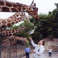 C.W. Nicol as Head Keeper for the day at Tama Zoo | TAMA ZOO PHOTO