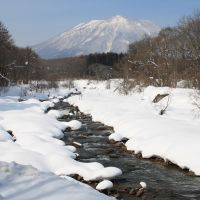 View with a room: The Torii River and Mount Kurohime in their snowy glory as seen from just outside my study while I write this month's 'Notebook.' | C.W. NICOL PHOTOS