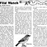 Wild Watch turns 30 this month