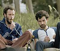 Ali Suliman and Kais Nashif in 'Paradise Now'