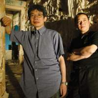 Directors oriza hirata (left) and Li Liuyi, from China, are collaborating on 'Lost Village' at the New National Theatre. | IMAGES COURTESY OF THE NEW NATIONAL THEATRE