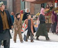 Zekiria Ebrahimi and Ahmad Khan Ahmoodzada in 'The Kite Runner' ® 2006 PARAMOUNT VANTEGE. ALL RIGHTS RESERVED