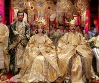 Li Gong is the empress and Chow Yun-Fat is the emperor in 'Curse of the Golden Flower.' © FILM PARTNER INTERNATIONAL INC.