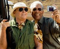 Jack Nicholson and Morgan Freeman run wild  © WARNER BROS. ENT
