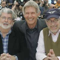 George Lucas, Ford and Steven Spielberg pose at this year's Cannes Film Festival. | AP PHOTO