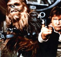 Young gun: Ford plays Han Solo in 1977's 'Star Wars' | LUCASFILM/TWENTIETH CENTURY FOX FILM CORPORATION