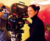 Julie Taymor on set