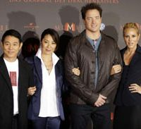 'Mummy' chums: Jet Li, Michelle Yeoh, Brendan Fraser and Mario Bello | AP PHOTO