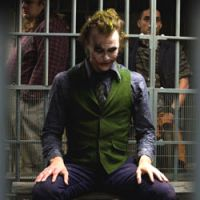 Ledger as the maniacal Joker
