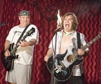 Hot number: Jack Black's set heats up in 'Tenacious D in The Pick of Destiny' with Kyle Gass. | © MMVI NEW LINE PRODUCTIONS, INC. ALL RIGHTS RESERVED