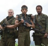 Welcome to the jungle: Left to right, Jack Black, Ben Stiller and Robert Downey Jr. in 'Tropic Thunder' | © 2007 DREAMWORKS LLC. ALL RIGHTS RESERVED