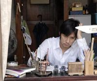 Creepy assignment: Hidetoshi Nishijima as writer Ben Makiguri in Yoshihiro Fukagawa's 'Makiguri no Ana'