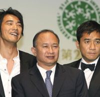 Top heartthrobs: Woo with 'Red Cliff' stars Tony Leung (left) and Takeshi Kaneshiro | YOSHIAKI MIURA PHOTO