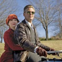 Motorcycle emptiness: Renee Zellweger and George Clooney in 'Leatherheads' | © 2008 UNIVERSAL STUDIOS. ALL RIGHTS RESERVED