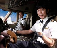 Top fun: Saburo Tokito (left) and Seiichi Tanabe in 'Happy Flight' © 2008 FUJI TELEVISION. ALTAMIRA PICTURES.TOHO.DENTS