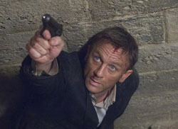 Forever young: Daniel Craig takes aim as James Bond in 'Quantum of Solace.'