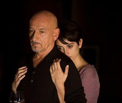 Penelope Cruz gets a grip on Ben Kingsley in 'Elegy.' | ELEGY © 2008 LAKESHORE ENTERTAINMENT GROUP LLC. ALL RIGHTS RESERVED