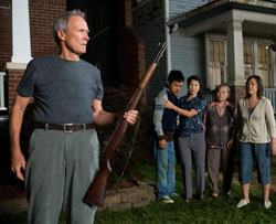 Pop takes a pop: Clint Eastwood in 'Gran Torino' | #169;2009 WARNER BROS. ENTERTAINMENT INC. AND VILLAGE ROADSHOW FILMS (BVI) LIMITED. ALL RIGHTS RESERVED