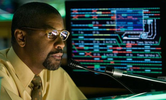 Leading man: Actor Denzel Washington plays a Manhattan Transit Authority subway dispatcher in the remake of 1974's 'The Taking Of Pelham 1 2 3.' | AP PHOTO