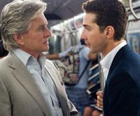 Greedier is not goodier: Disgraced trader Gordon Gekko (Michael Douglas) and his soon-to-be son-in-law Jake Moore (Shia LaBeouf) talk dirty cash in 'Wall Street: Money Never Sleeps.' | © 2010 TWENTIETH CENTURY FOX