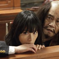 Wailing witness: Toshiyuki Nishida (right) plays a long-dead samurai general who must testify in a murder case in the quirky 'Suteki na Kanashibari.' | © 2011 FUJI Television TOHO