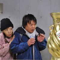 Use the farce: Revered actress and voice talent Keiko Toda (left) and TV comedian Hosshan in 'Koun no Tsubo — Good Fortune.' | © NIHON TV/YOSHIMOTO KOGYO