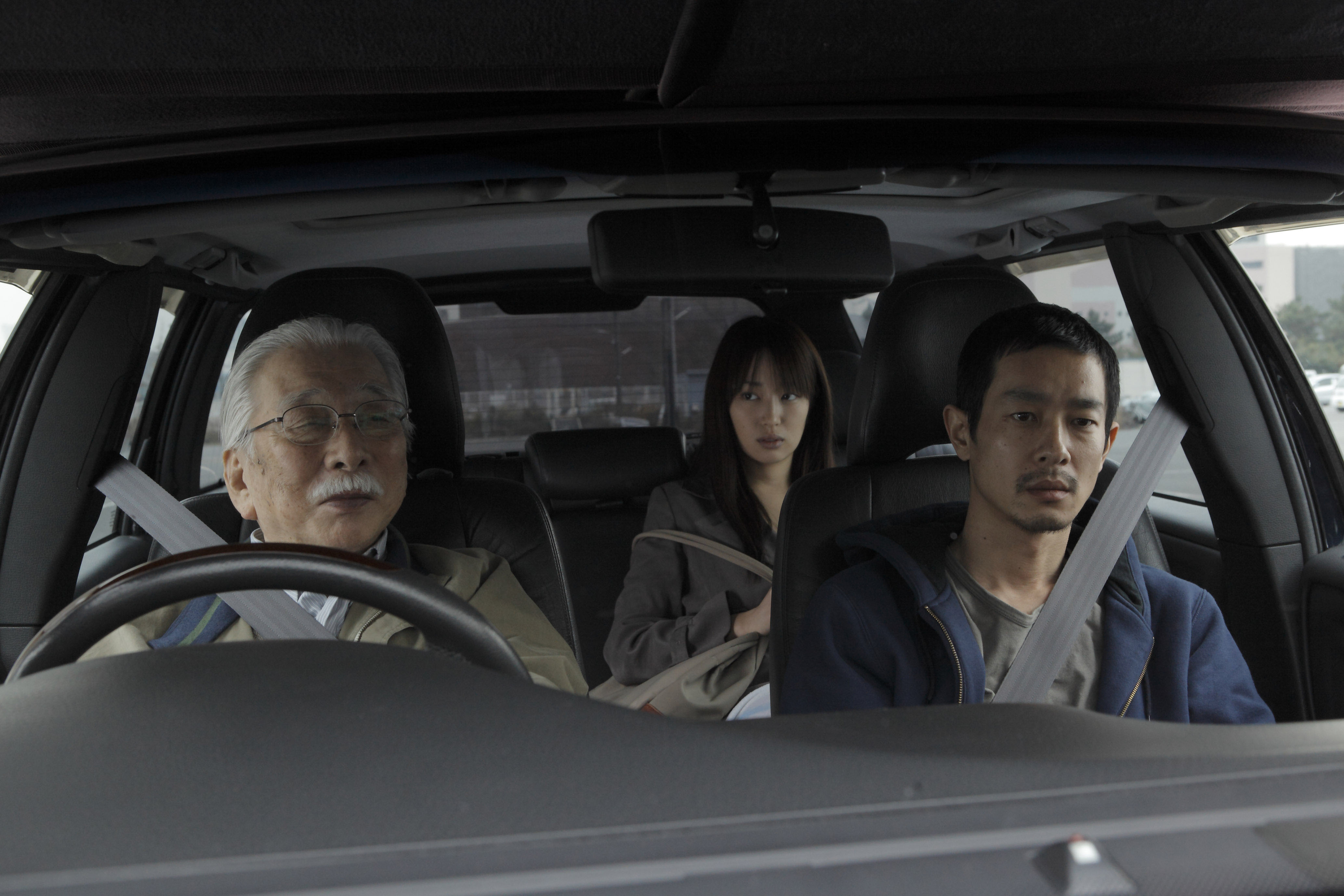 Three's a crowd: Iran's Abbas Kiarostami directs a Japanese cast in 'Like Someone in Love,' about a call girl (Rin Takanashi), her jealous boyfriend (Ryo Kase) and the elderly patron (Tadashi Okuno) who takes her under his wing. | © mk2/eurospace