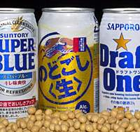 Makers of cheaper nonmalt drinks known as 'third-category beers' toasted a surge in sales in the last sear. | YOSHIAKI MIURA PHOTO