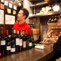 Ten green bottles: At the wine bar Takahashi-san, inside Ebisu Yokocho, the only food served by owner Takahashi is vegetables.