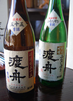 Old rice for new: Two types of Wataribune junmai ginjo from the Fuchu Homare Shuzo brewery