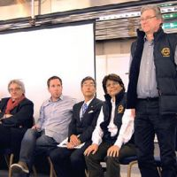 Bottled wisdom: Speakers on the sake tasting's international panel. | MELINDA JOE PHOTO