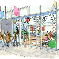 Frozen fancy: Flavors at Ben & Jerry's will include Baked Alaska — vanilla with marshmallow and white chocolate polar bears.
