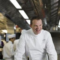 Happy eater: Richard Ekkebus (above), executive chef at Michelin-starred Hong Kong restaurant Amber, uses Japanese produce for dishes such as lobster gelee with sea urchin and black caviar (below), and crispy-skinned sea bream with bouillabaisse mousse (bottom).