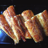 Osaka style: Harabiraki-style eel at Honke Shibato is not steamed, just grilled to 1,000 degrees. | JOHN ASHBURNE