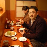 Daigo's Daisuke Nomura takes a break from preparing Buddhist vegetarian cuisine for a pork cutlet at Ponta Honke.