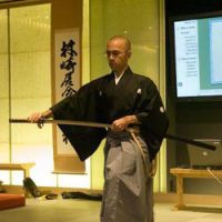 Cool cuts: The traditional martial art of  iaido,  which involves drawing a Japanese sword (above) and wielding it to strike blows in all manner of ways, requires 100-percent focus, even from a kneeling position (below). | COURTESY OF GIANNI GIOSUE