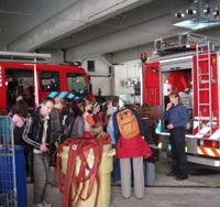 Hot ticket: Young women on a Technika 10 program in Amsterdam expand their often stereotyped horizons with a visit to a firefighters' station earlier this year. | TECHNIKA 10