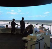 Flights of fancy: Trainee air traffic controllers learn their trade in the simulated environment of Chubu Centrair International Airport south of Nagoya. | AERONAUTICAL SAFETY COLLEGE PHOTO