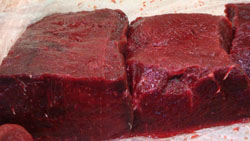 On sale at a supermarket near you: An 80-gram pack of whale meat will set you back around 2,000. | BHARTI LEGROS PHOTO