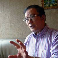 Broad horizons: Award-winning author Jiang Rong (above) shown during his recent JT interview, when he expounded at length on his upbringing in a changing China, his periods of being imprisoned for his opinions and much more besides — including, primarily, the insights he drew from living in Inner Mongolia, where shamanistic totems such as this one (below) helped inspire his best-selling novel. | MATTHIAS MESSMER PHOTO