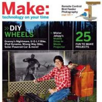 Magazines such as 'Make' contain inventive solutions to household problems.