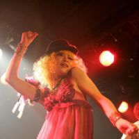 On stage: Ryoko Hashimoto performs as 'Annie' in the Tokyo-based burlesque troupe Murasaki Babydoll. | KONGO RODRIGUEZ