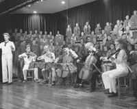 Historical footnote: At the museum of the Bando prison camp in Tokushima Prefecture, replicas of Germans captured at Tsingtao are shown giving the first performance in Japan of Beethoven's Ninth Symphony. | ERIC JOHNSTON PHOTO