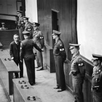 Big moment: Japan's former Prime Minister and Foreign Minister Koki Hirota shown as he is sentenced to death at the Tokyo Trial in 1948. | AP PHOTO
