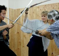 Traditions for tourists: Japanese tour businesses are turning to cultural activities to rake in tourist dollars. Visitors practice samurai sword-fighting, a teacher leads a dance class, and budding chefs try to make sushi. | H.I.S. EXPERIENCE JAPAN
