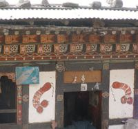 Welcome home: The arresting doorway to a typical farmhouse in Bhutan | JEFF KINGSTON