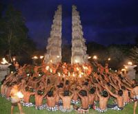 All together now: A traditional Balinese dance at the Chedi Club | COURTESY OF CHEDI CLUB
