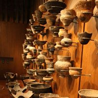 Show pieces: Exhibits at Otaru Museum in Hokkaido (above) include a wealth of Jomon pottery, hunting weapons, digging and tree-felling tools and clear examples of the era's signature 'rope-pattern' decoration. | ANDREW KERSHAW